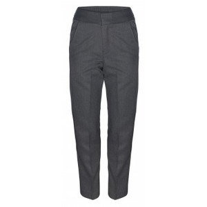 Boys Junior Grey Trousers with Waist Adjuster