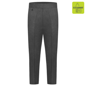 Boys Junior Half Elastic Grey Trousers