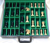 "Centurion Knight Staunton Luxury Chess Set  with 114mm (4.5"") King in Ebony, Chess Board & FREE Presentation Case"