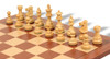 """French Lardy Staunton Wooden Chess Pieces Set with 82mm (3.25"""") King"""