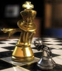 """Grand Master Staunton Luxury Brass Chess Set with 102mm (4.00"""") King, Rosewood or Ebony  Chess Board & FREE Case. LIMITED STOCK"""