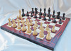 """Grand Taj Mahal Staunton Luxury Wooden Chess Set with 108mm (4.25"""") King includes Chess Board & FREE Case. LIMITED STOCK"""