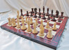 """Sir Galahad Knight Staunton Luxury Chess Set with 108mm (4.25"""") King in Rosewood, Chess Board & Case"""