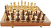 """French Lardy Staunton Wooden Chess Set with 95mm (3.75"""") King, 46cm (18"""") Folding Chess Board"""