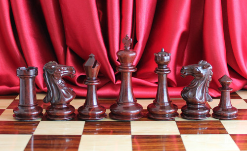 """Camelot Royal Knight Staunton Luxury Chess Pieces Set with 102mm (4.00"""") King"""