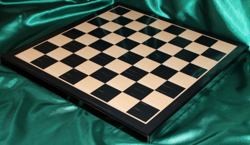 """Centurion Knight Staunton Luxury Chess Set  with 114mm (4.5"""") King in Ebony, Chess Board & Case"""