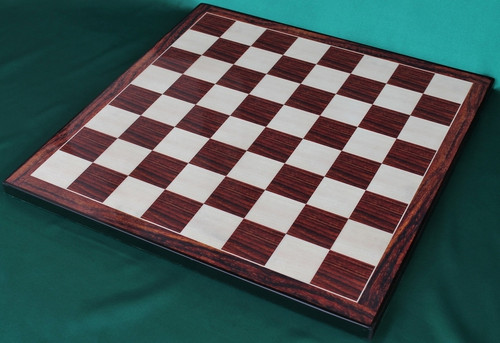 "Custom Designed Executive 53cm (21"") Chess Board with Rosewood Screened Laminate"