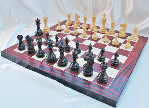 """Grand Taj Mahal Staunton Luxury Wooden Chess Set with 108mm (4.25"""") King includes Chess Board & FREE Case"""