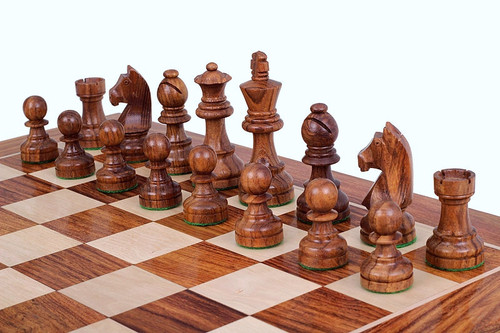 """Championship Classic Staunton Chess Pieces Set with 95mm (3.75"""") King"""