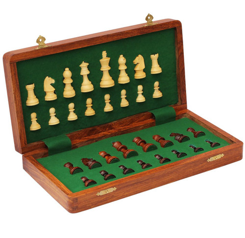 "Magnetic Chess Set  Folding Wooden 30cm (12"")"