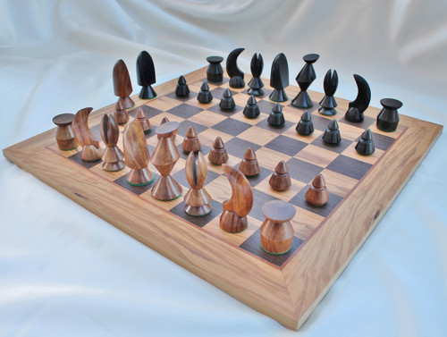 """Max Ernst Luxury Chess Set with 89mm (3.50"""") King in Ringy Rosewood includes 50cm (20"""") Chess Board"""