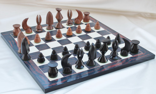 """Max Ernst Luxury Wooden Chess Set with 89mm (3.50"""") King & 48cm Chess Board"""