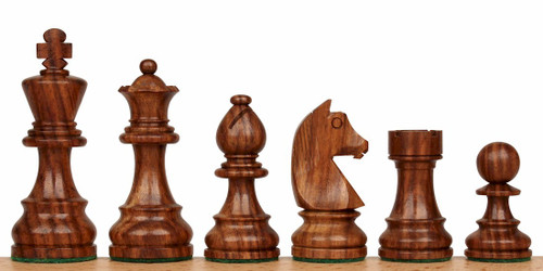"Championship Classic Staunton Wooden Chess Pieces Set with 83mm (3.25"") King"