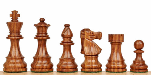 """French Lardy Staunton Wooden Chess Set with 82mm (3.25"""") King, 41cm (16"""") Folding Chess Board"""