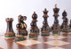 "Grand Master Classic Burnt Staunton Luxury Wooden Chess Set with 102mm (4.00"") King, Chess Board & Case"