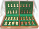 """Zagreb 59 Classic Staunton Wooden Chess Set with 83mm (3.25"""") King, 41cm (16"""") Folding Chess Board"""