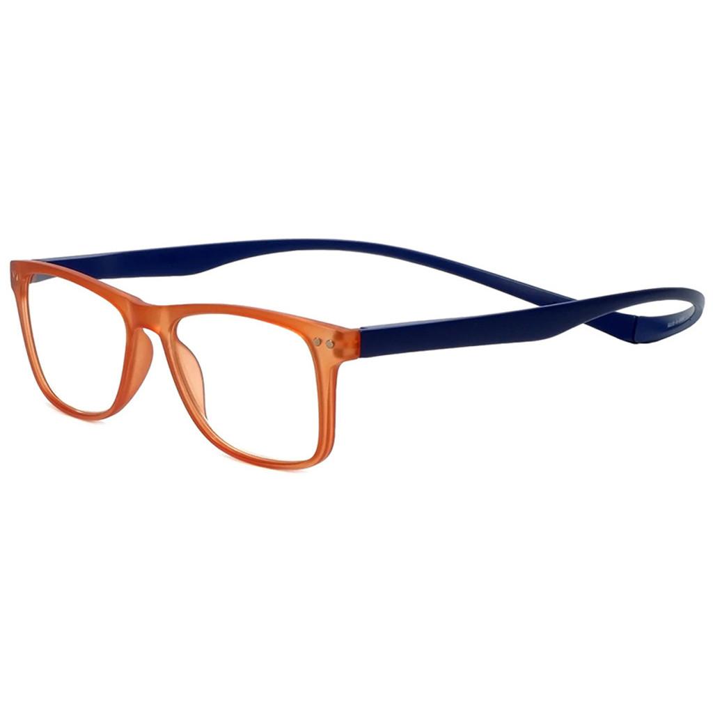 Magz Astoria Magnetic Progressive Eyeglasses in Orange Blue