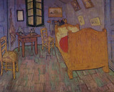 Famous Artwork Theme Cleaning Cloth 'Bedroom in Arles' by Van Gogh