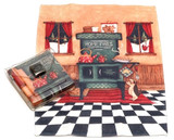 Holiday Christmas Theme Cleaning Cloth, Home Fires