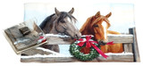 Holiday Christmas Theme Cleaning Cloth, Horses