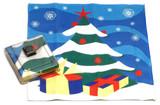 Holiday Christmas Theme Cleaning Cloth, Christmas Tree