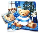 Holiday Christmas Theme Cleaning Cloth, Christmas Teddy