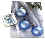 Holiday Christmas Theme Cleaning Cloth, Ice Baubles