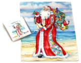 Holiday Christmas Theme Cleaning Cloth, Coastal St. Nick