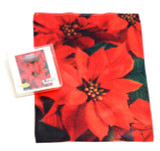 Holiday Christmas Theme Cleaning Cloth, Poinsettia