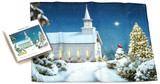 Holiday Christmas Theme Cleaning Cloth, Midnight Clear