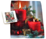 Holiday Christmas Theme Cleaning Cloth, Christmas Candles