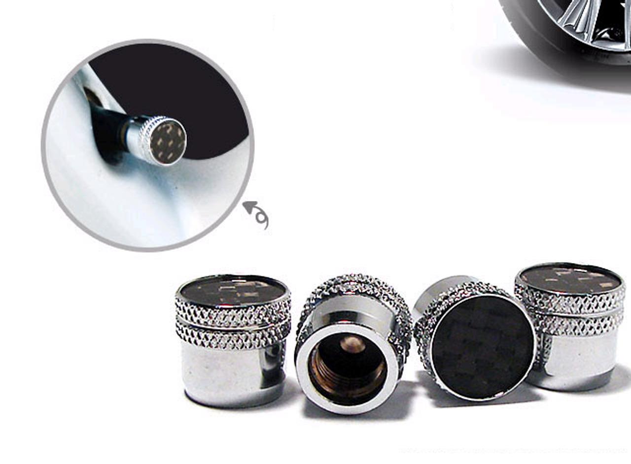 LODEN Genuine Carbon Fiber Valve Stem Caps Set 4pc for ALL YEAR models premium quality zinc