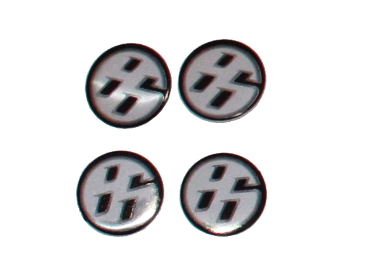 86 logo metal mini emblems for Toyota Subaru and Scion 86 valve cap emblems 86 small accent emblems