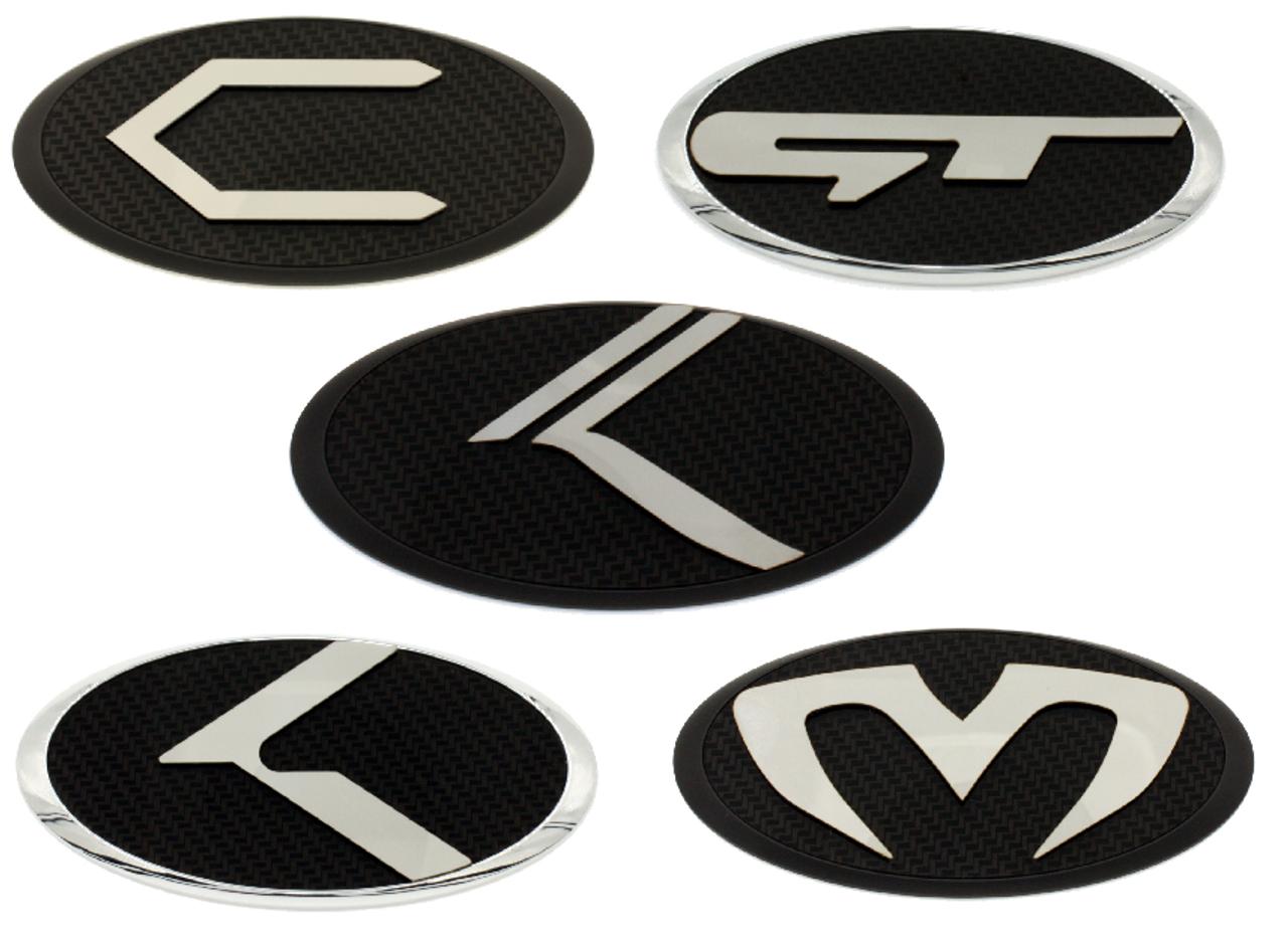 Loden Carbon Stainless Steel Emblem Badges For Hyundai Models C Emblem Gt Emblem Vintage K Emblem