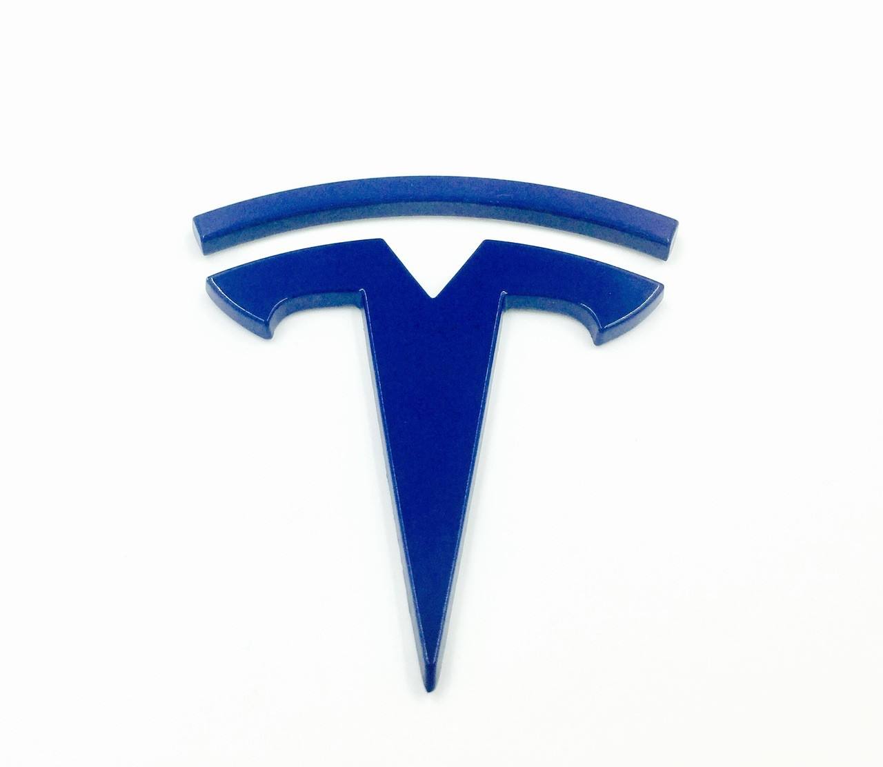 T Badge Model S REAR (Custom Colors)