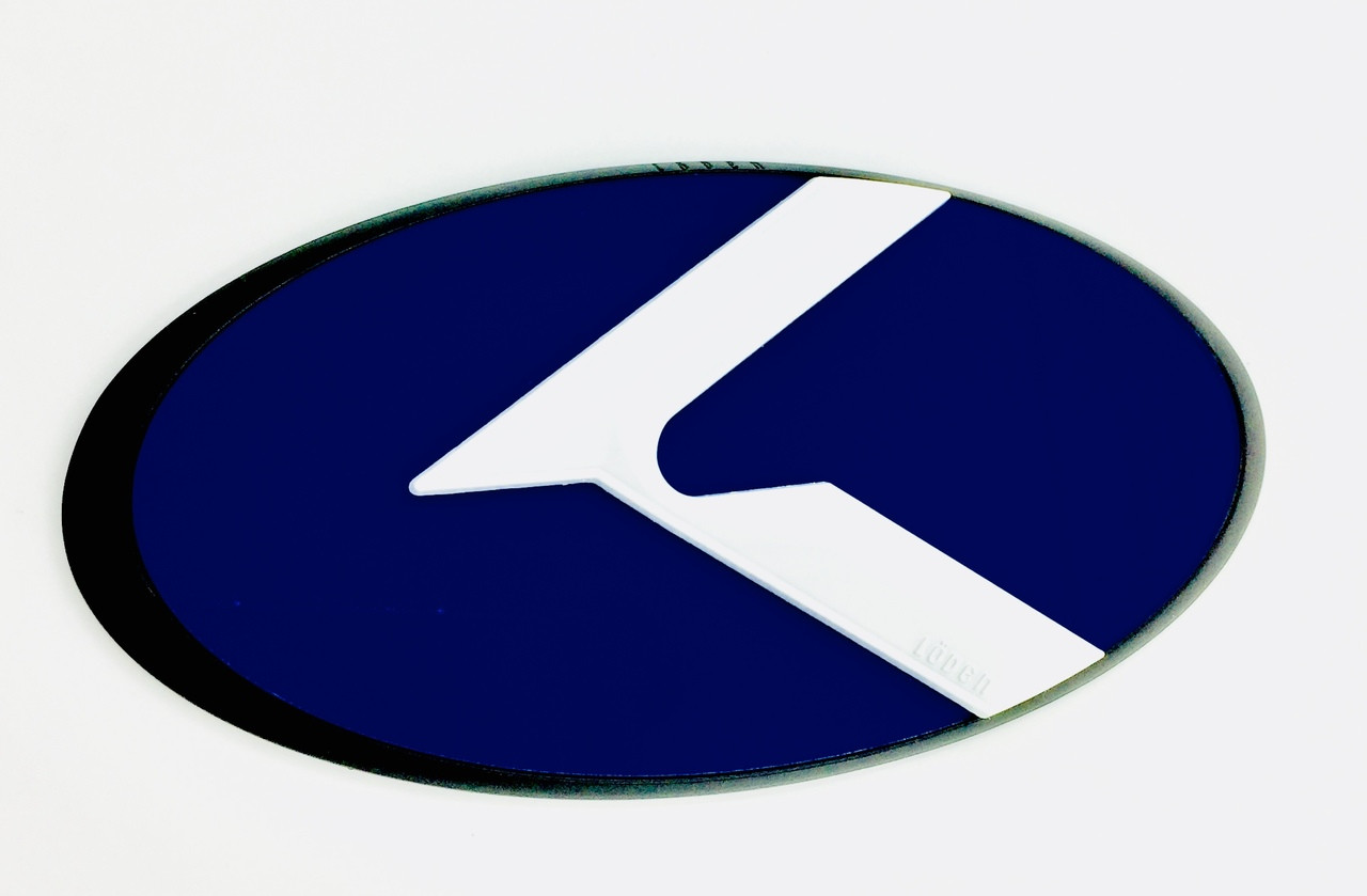 LODEN 3.0 K Badges (MATTE-BLACK EDGE) for Kia Models (100+ Colors)