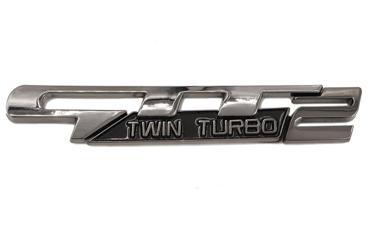 GTT2 Twin Turbo Emblem 3pc Design (Black Chrome)
