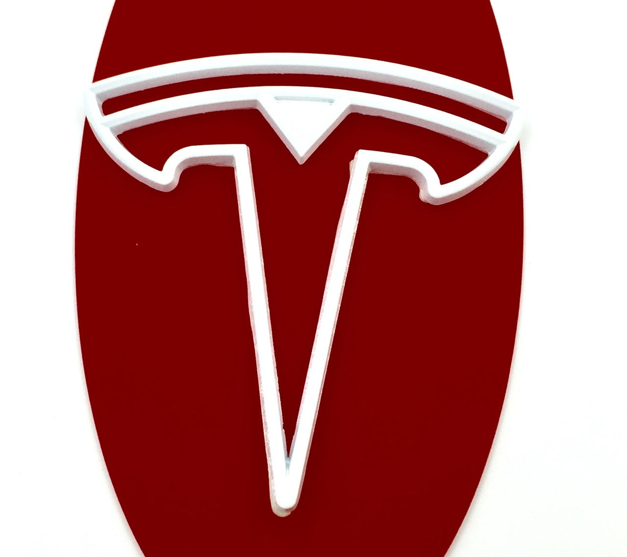 """""""T"""" Halo Badge for Model 3 Rear (5 Colors)"""