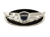 Chrome edge Genesis Wing Conversion Badge for all year/model Hyundai vehicles
