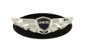 Black edge Genesis Wing Conversion Badge for all year/model Hyundai vehicles