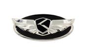 Chrome Plated Edge K-Wing Badge for Hyundai models K wing genesis wing badge for Santa Fe Sonata Elantra i30 accent azera santa fe sonata veloster tucson tiburon wing badge kwing