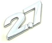 2.7 emblem ABS chrome plated car emblem