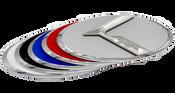 LODEN 3.0 K Badges (CHROME EDGE) for Kia Models (100+ Colors)
