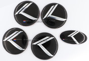 (NEW) VINTAGE K METAL SKIN Overlay Emblems for KIA Models
