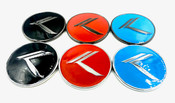 *NEW* ROUND METAL Vintage K Badge (6 Colors)