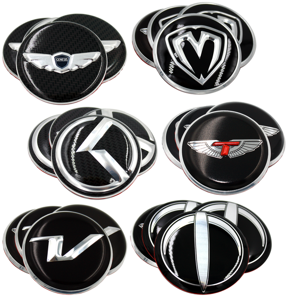 Wheel cap emblem set overlay Wheel cap emblems for 59mm or 60mm OEM wheel caps