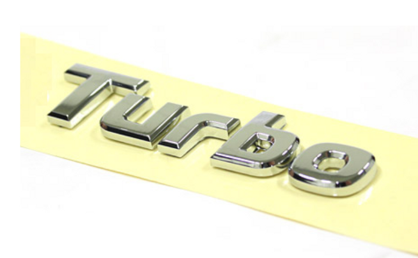 Turbo OEM chrome plated car emblem