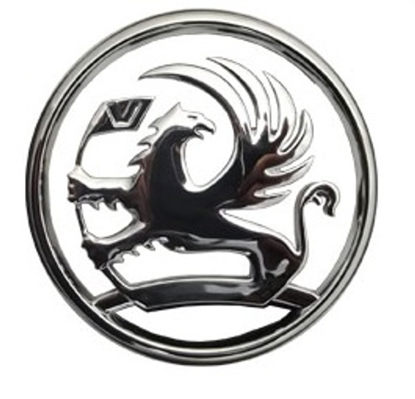 Vauxhall Griffin chrome badge emblem
