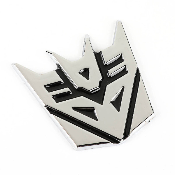 Transformers Decepticon Chrome Car Emblem