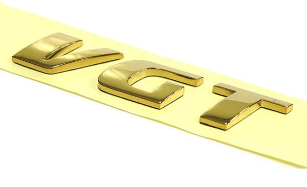 VGT Gold plated car emblem